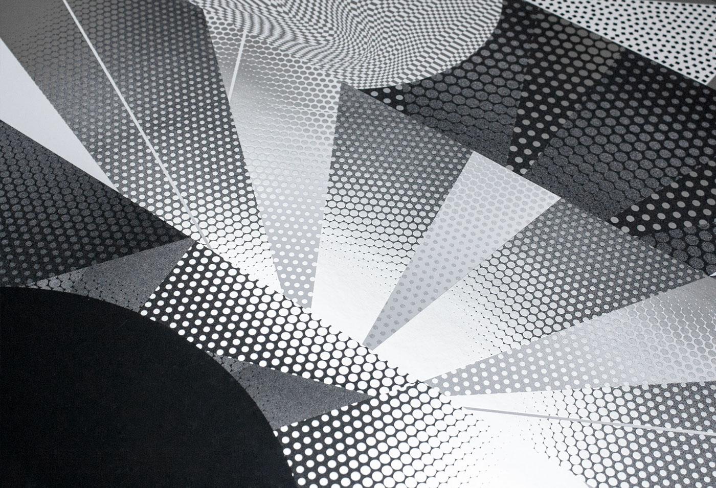 screenprint silkscreen poster pattern Exhibition  silver
