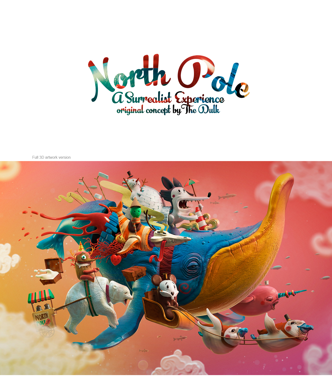 north pole 3d on behance