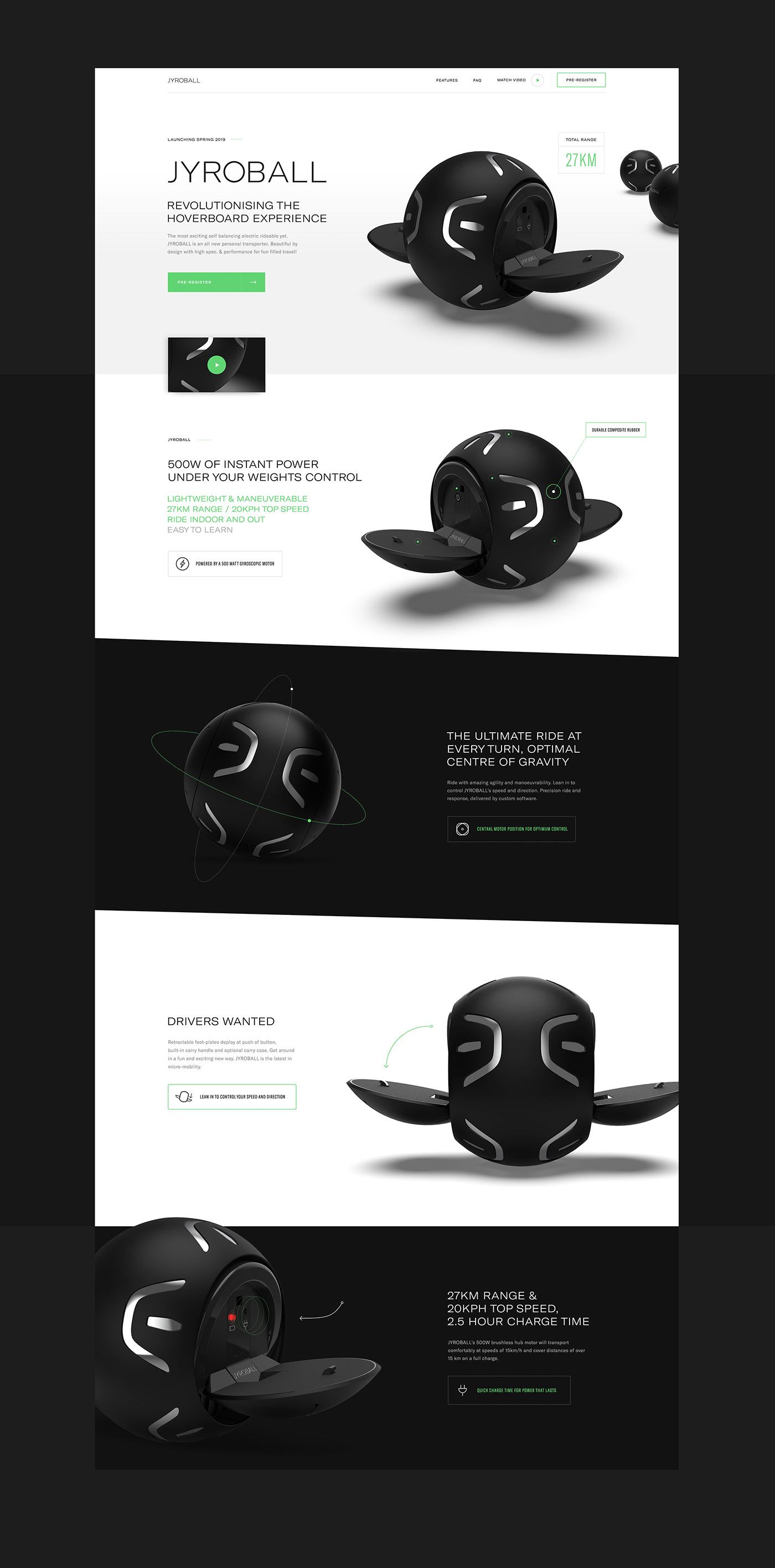 Website hoverboard UI ux interaction interactive branding  launch icons social