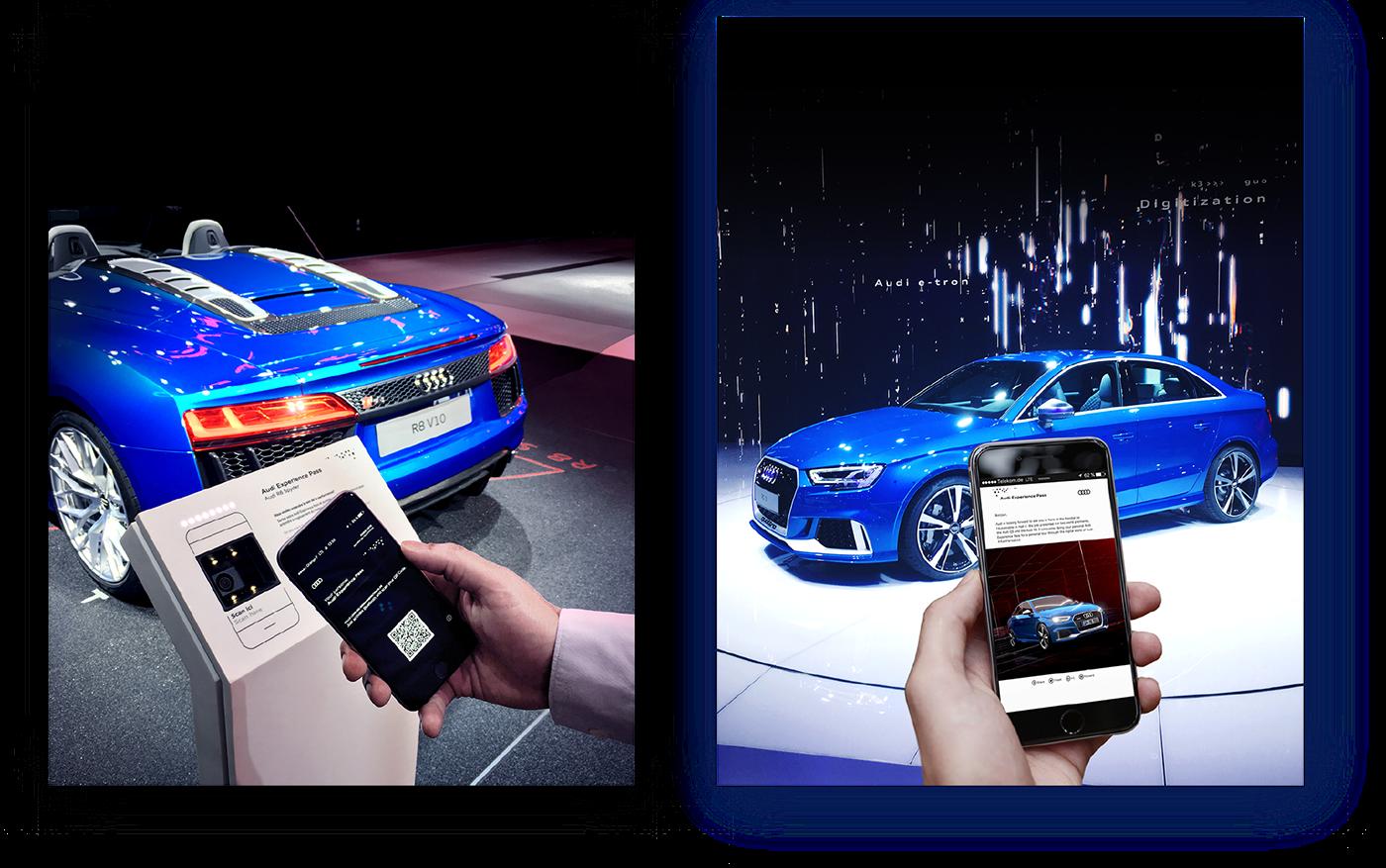 Audi,Mondial de l'Automobile,bluetooth,beacon,Digitization,Interaction system,ibeacon,WALLET,pass