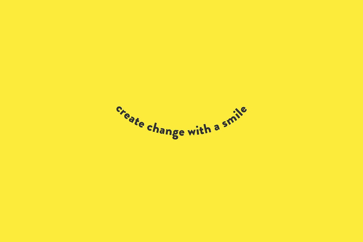 create change with a smile logo