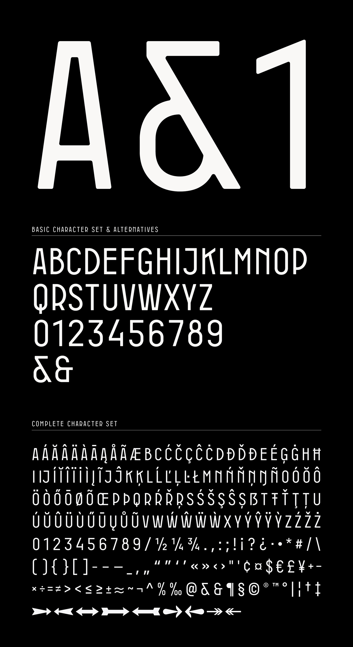 font Display Retro industrial art deco