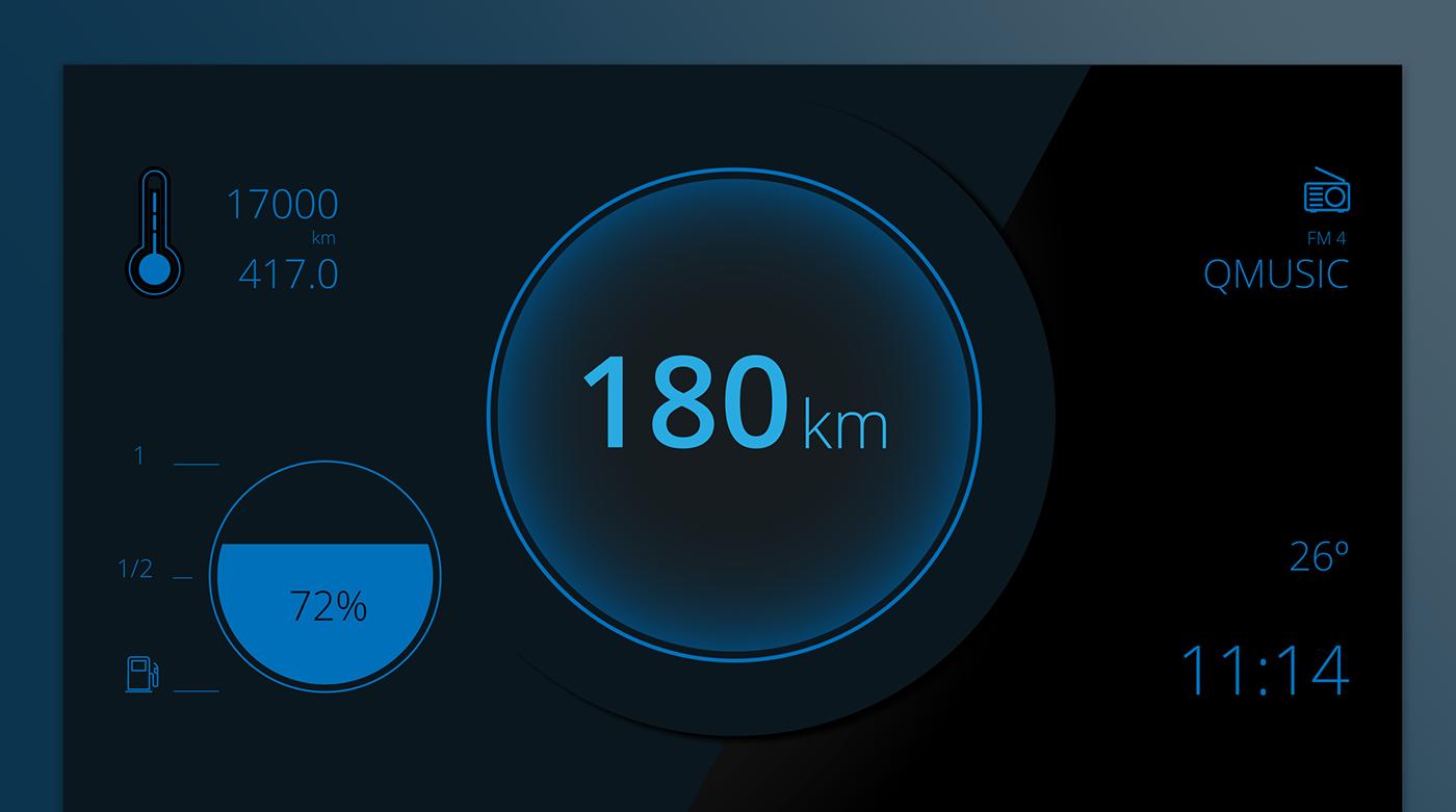 UI dashboard car interface daily ui