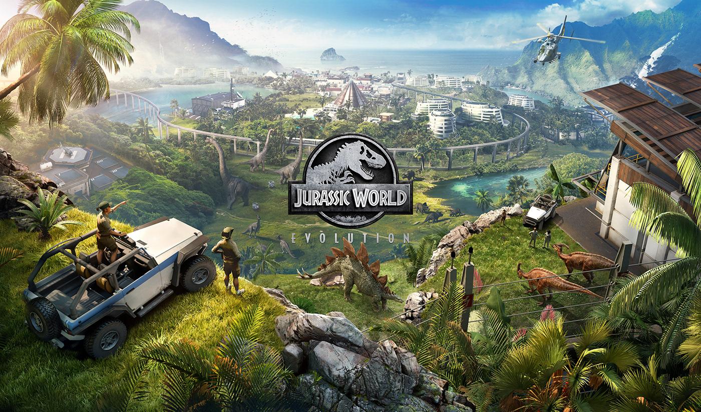 jurassic park Jurassic World jurassic world evolution Dinosaur trex chaos paradise video game dinosaurs vegetation