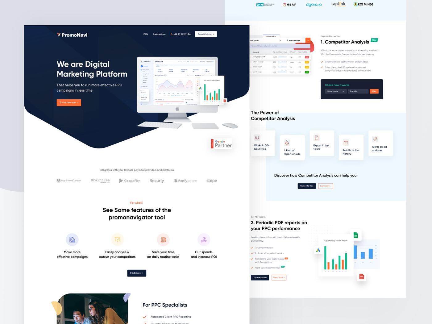 Promonavigator- PPC Marketing Website Redesign on Behance
