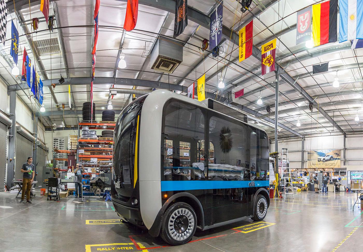 olli Local Motors Berlino bus electric shuttle cab concept autonomus futuristic