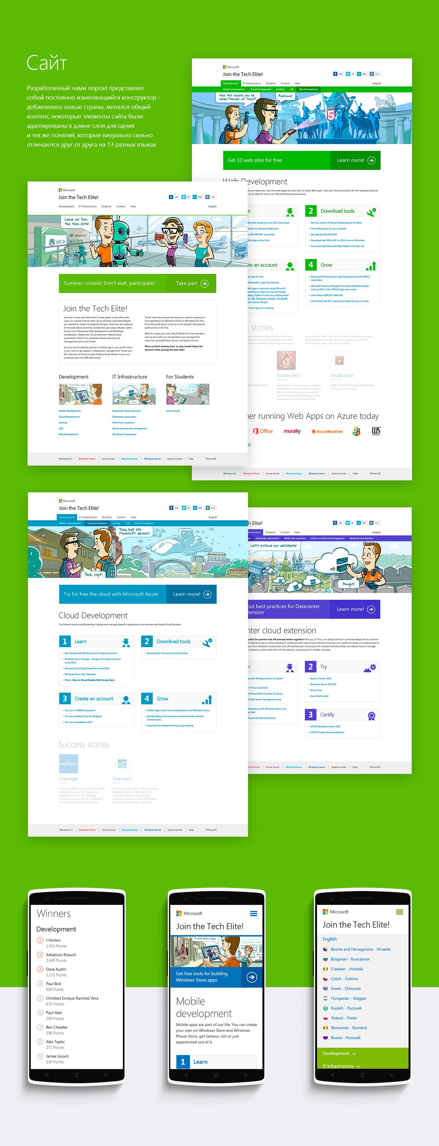 веб-дизайн разработка сайтов иллюстрации site art UI ux design