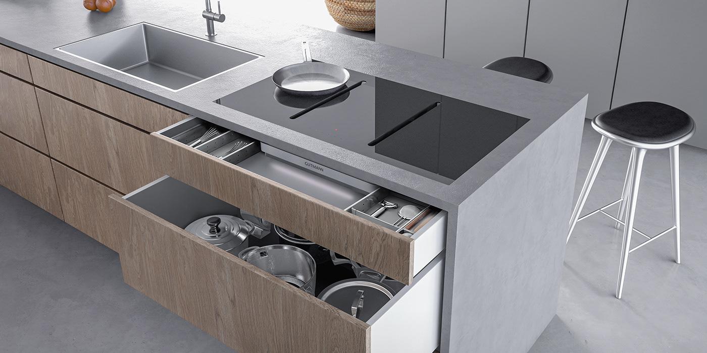 Gutmann,vanberlo,design,downdraft hood,agency,kitchen,cooking,ux,industrial design