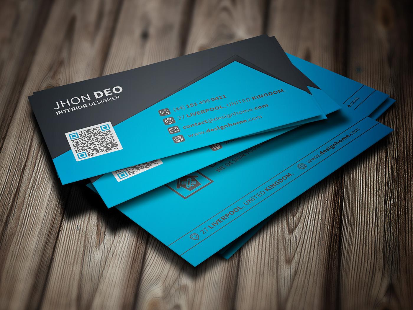 creative business card freebie on behance