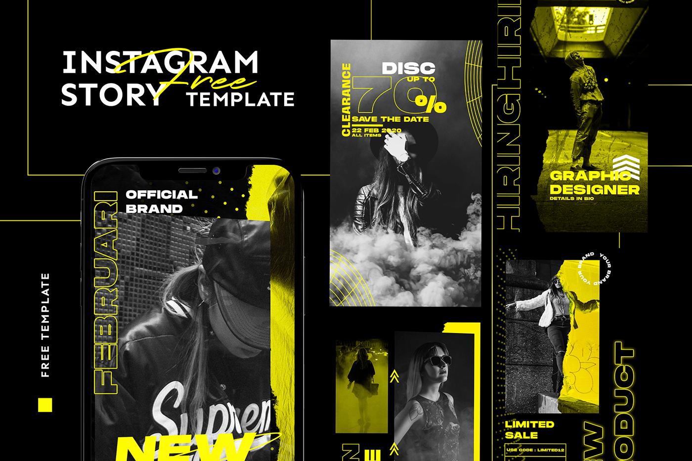instagram instagram posts Instagram Stories free hypebeast freebie Fashion  free psd Free Template streetwear