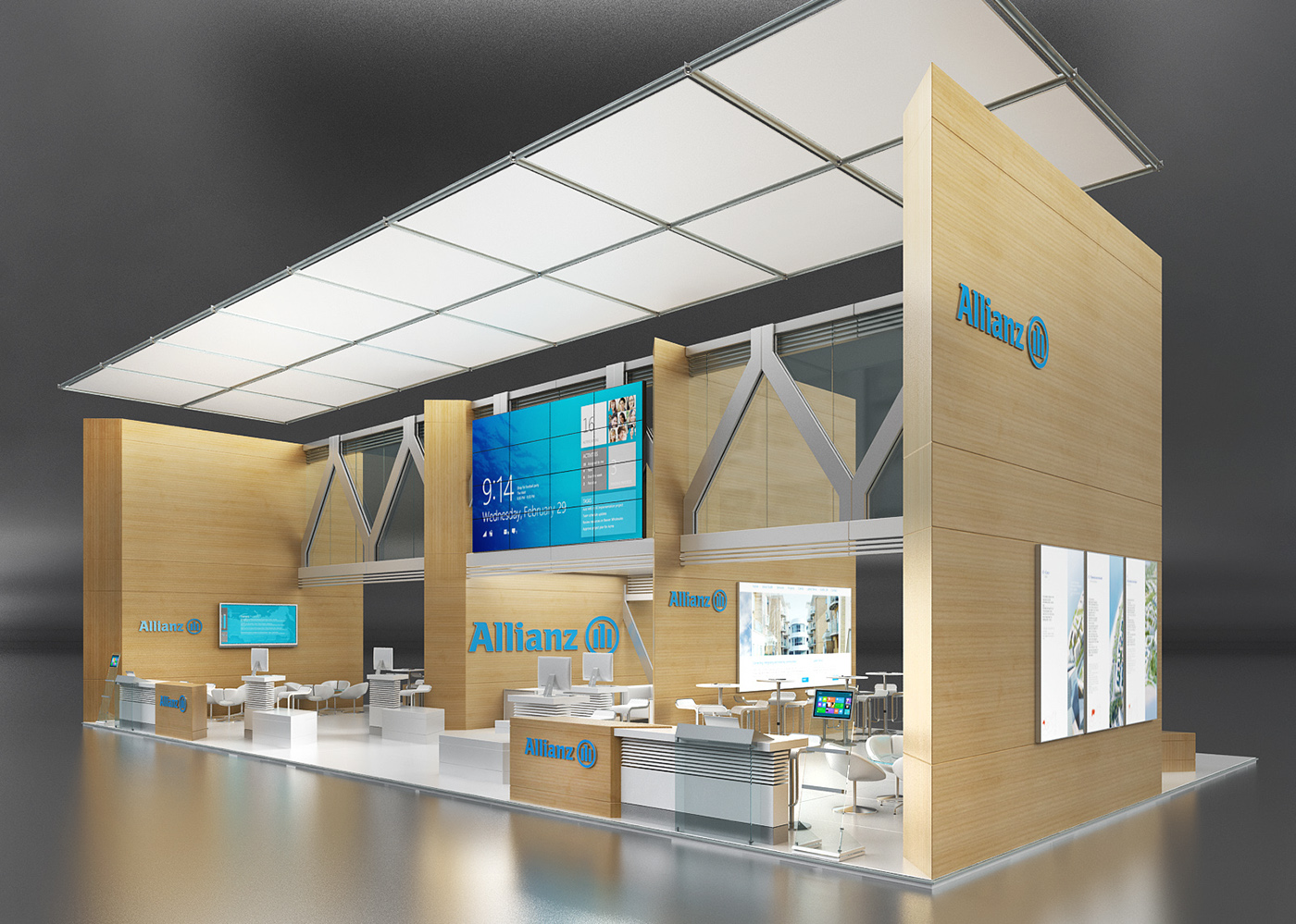 Exhibition Booth Design Germany : Allianz exhibition stand on behance