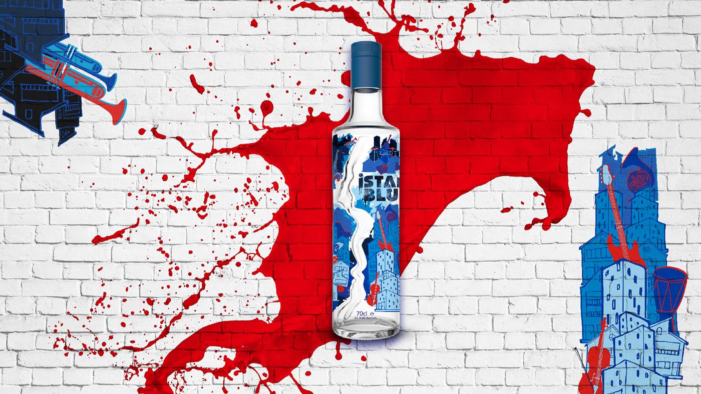 istanblue vodka ıstanblue Mey bottle design vodka bottle alcohol packaging city music limited edition bottle