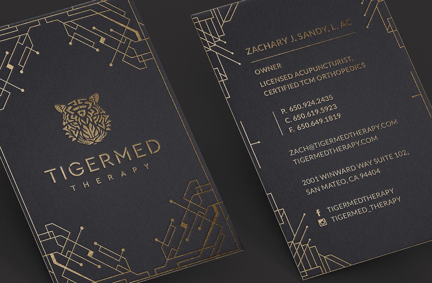 minimalistic business card medic