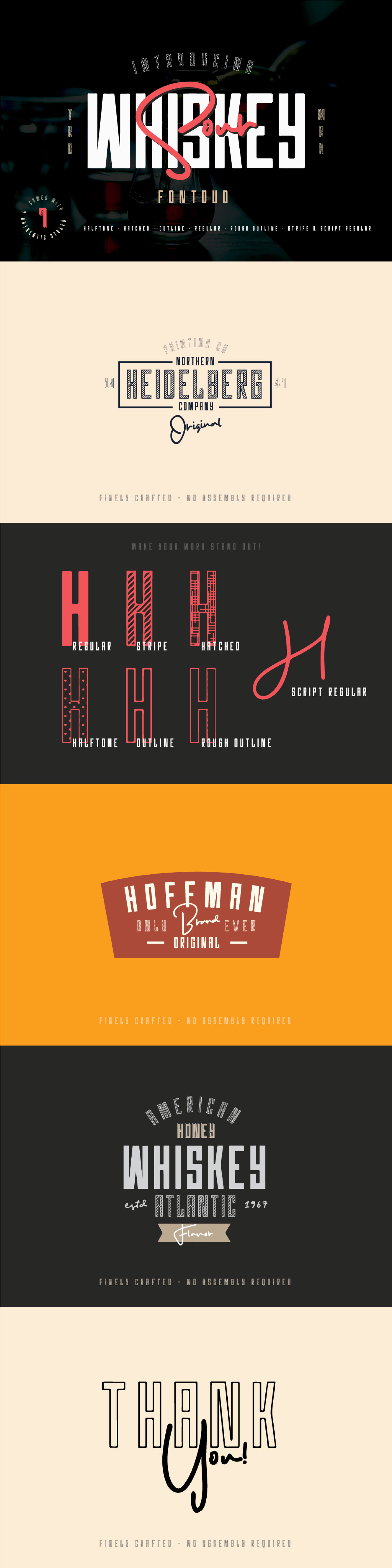 WHISKEY SOUR - FREE VINTAGE FONT DUO on Behance