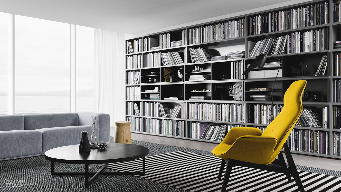 Seaside library on behance for Casa design stili