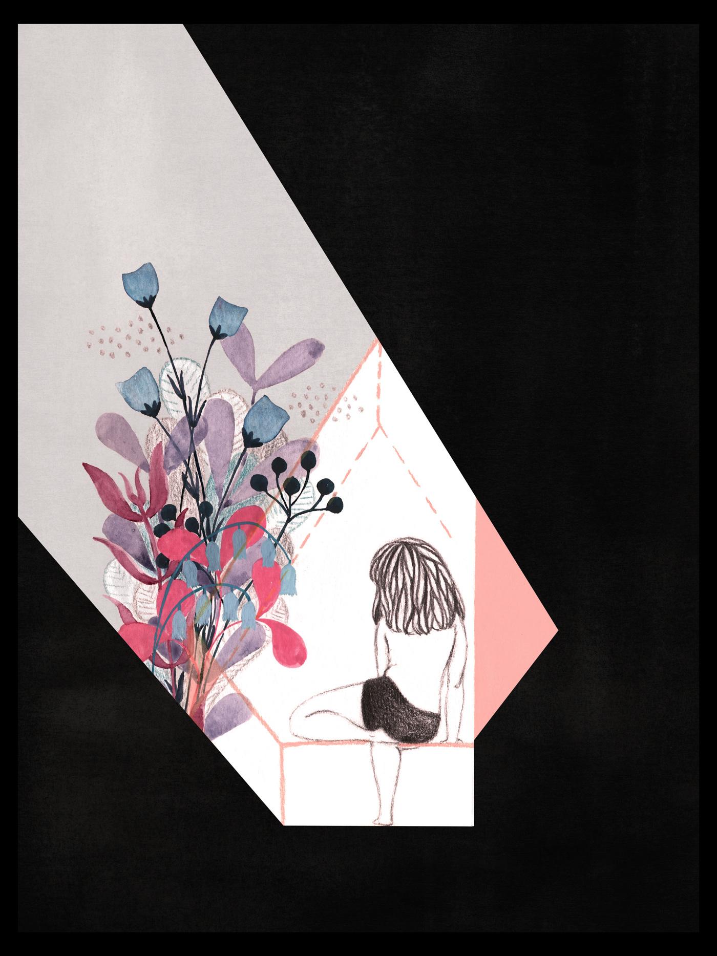 ILLUSTRATION  ilustracion poem poetryillustration woman deep