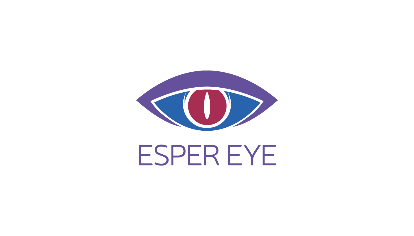 esper eye Logo Design game translation ILLUSTRATION  eye purple blue