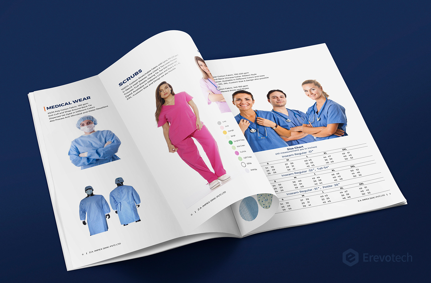 hospital uniform profile design