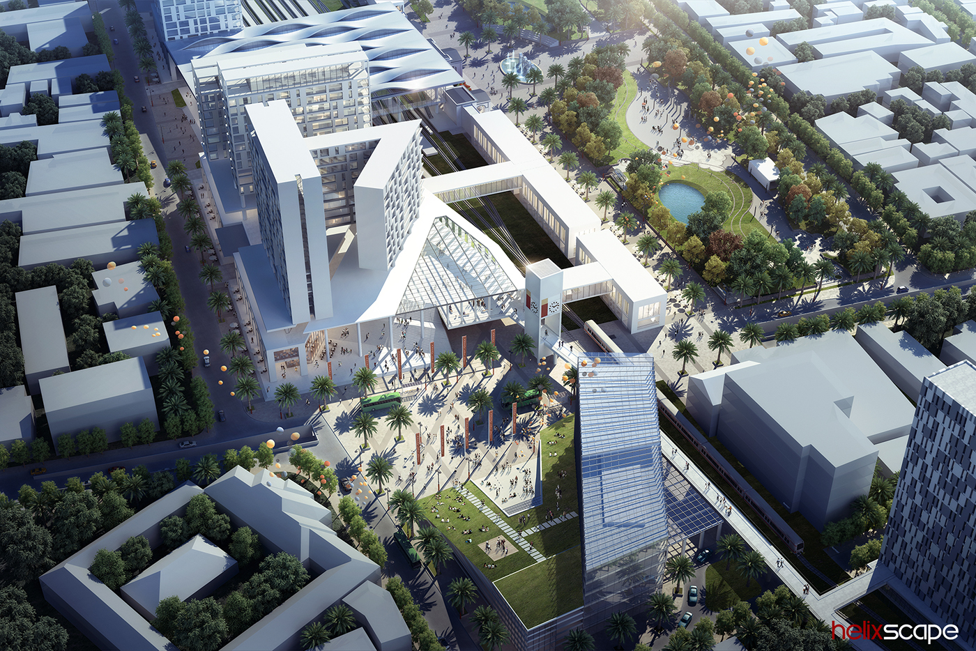 Master Plan 3D Rendering architecture