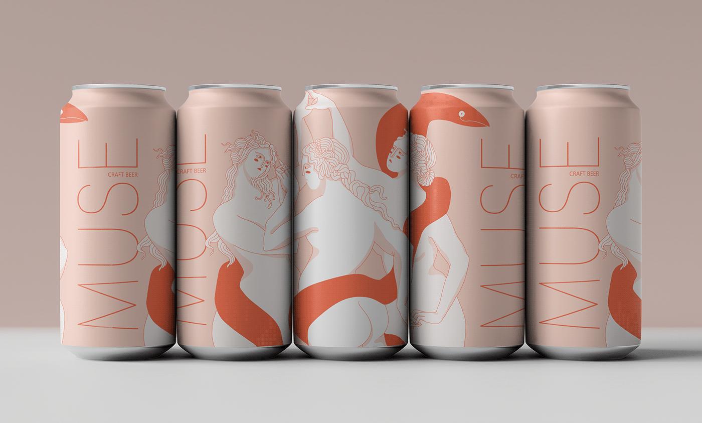 beer branding  can color design digital graphic ILLUSTRATION  Project women
