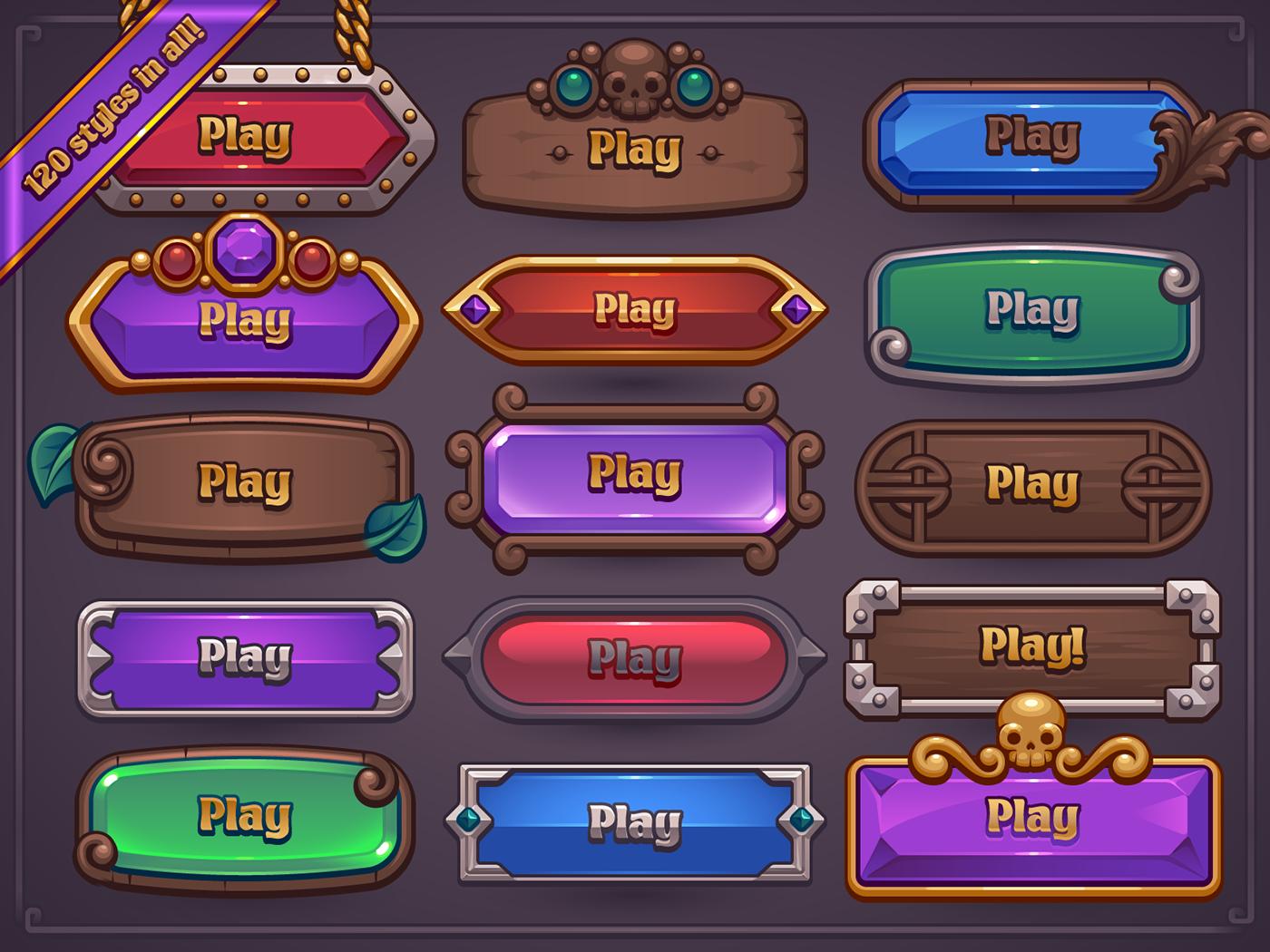 Fantasy Game Button Maker on Behance