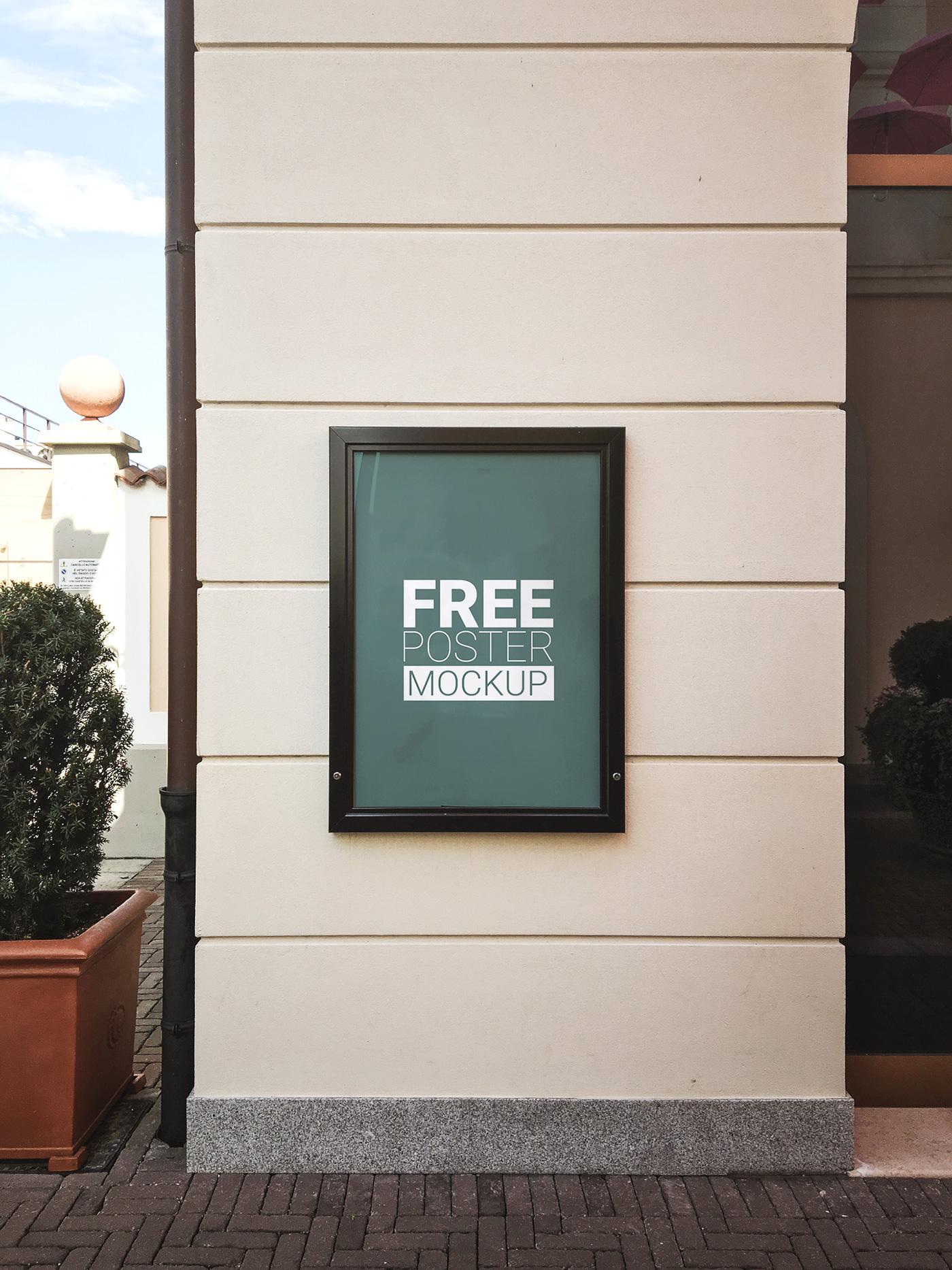 Free Outdoor Poster Mockup Psd Psdblast