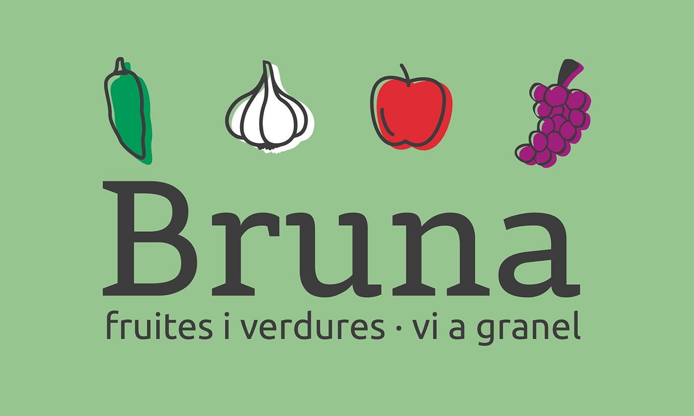 logo font graphic design  design Fruit vegetables