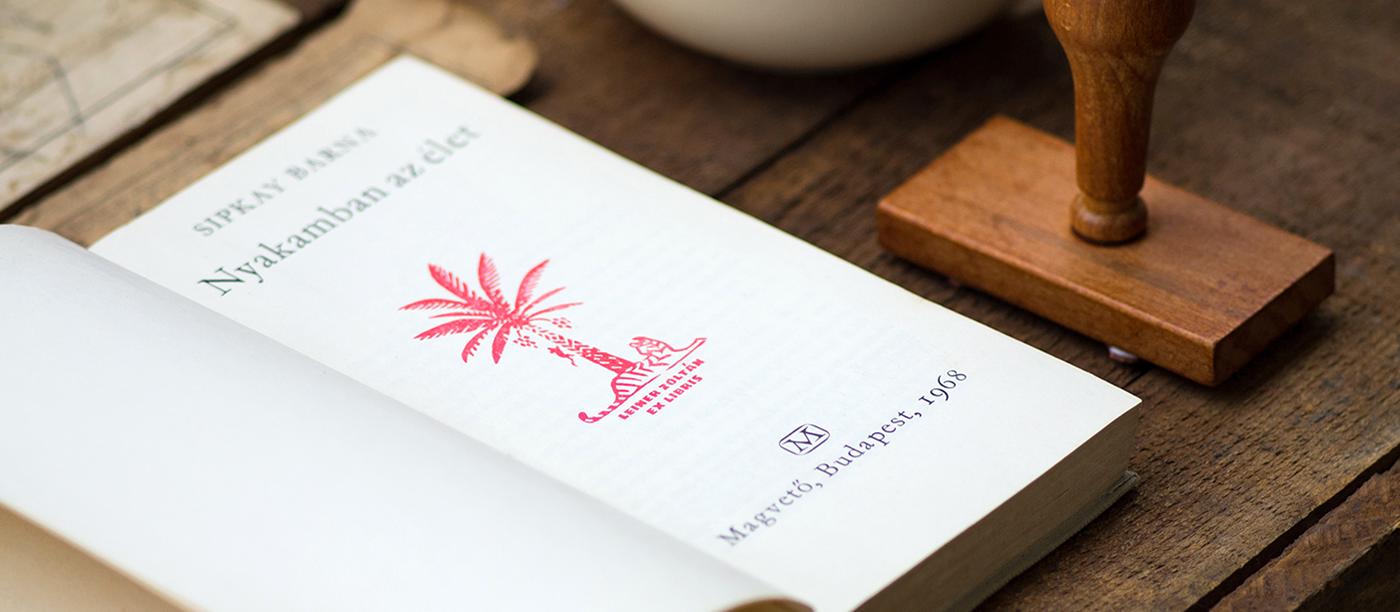 Ex Libris bookplate logo symbol animal stamp book mythology bird Imaginary Creature