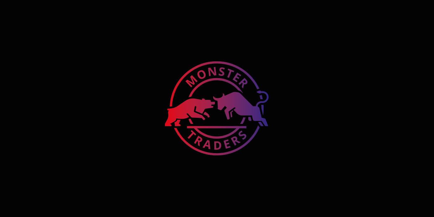 Monster Traders. Logo for trader's telegram chanel.