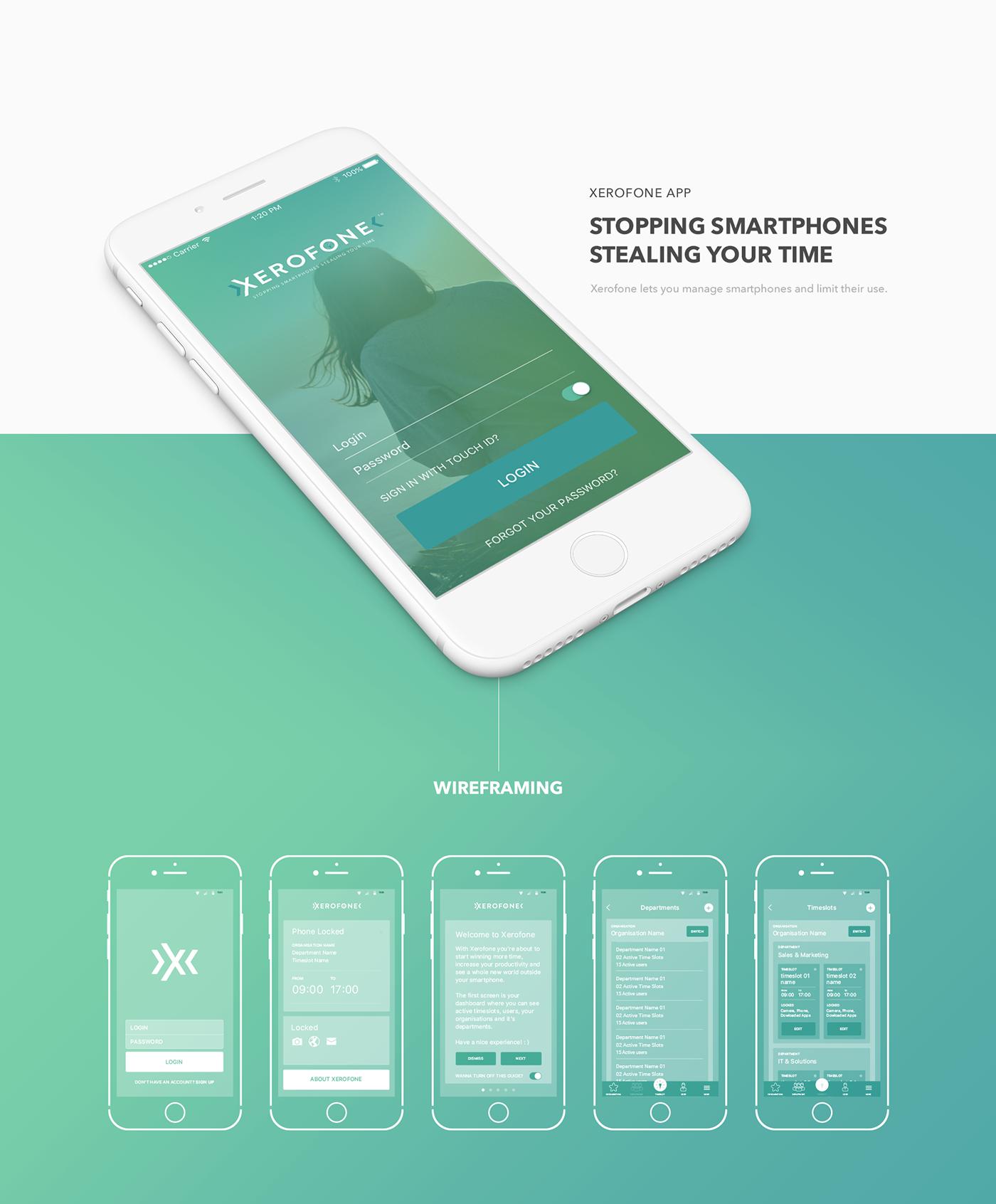 app ios iphone flat clean mobile dashboard