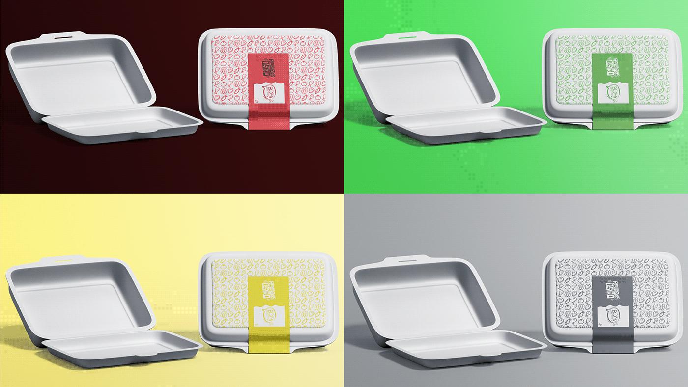 comida design Fast food Food  identidade marmita restaurante visual