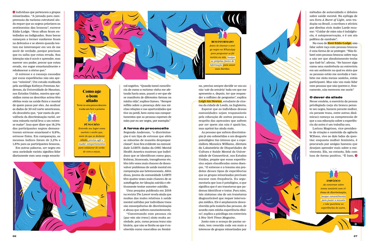 magazine design LGBT galileu newspaper editorial draw colors people Archive