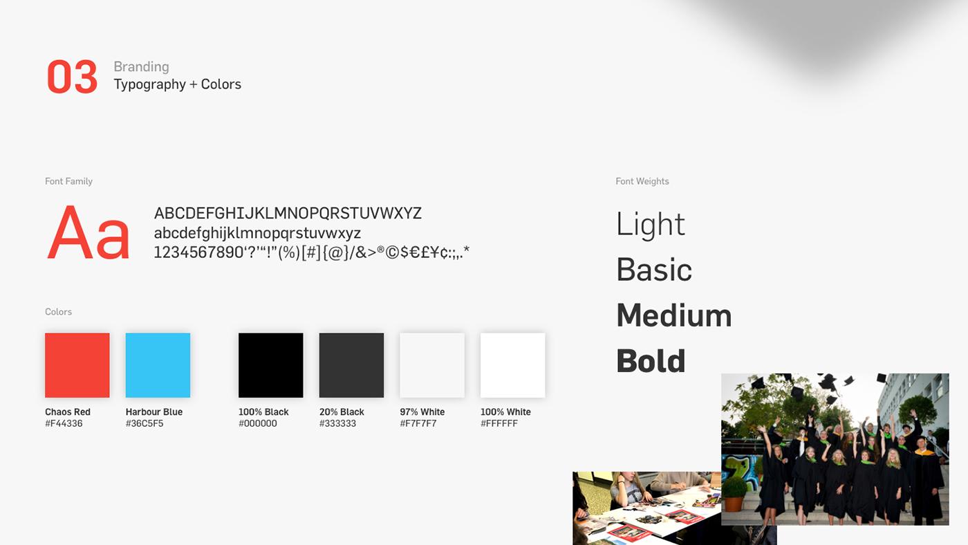 site Web UI ux clean minimal design school factory red