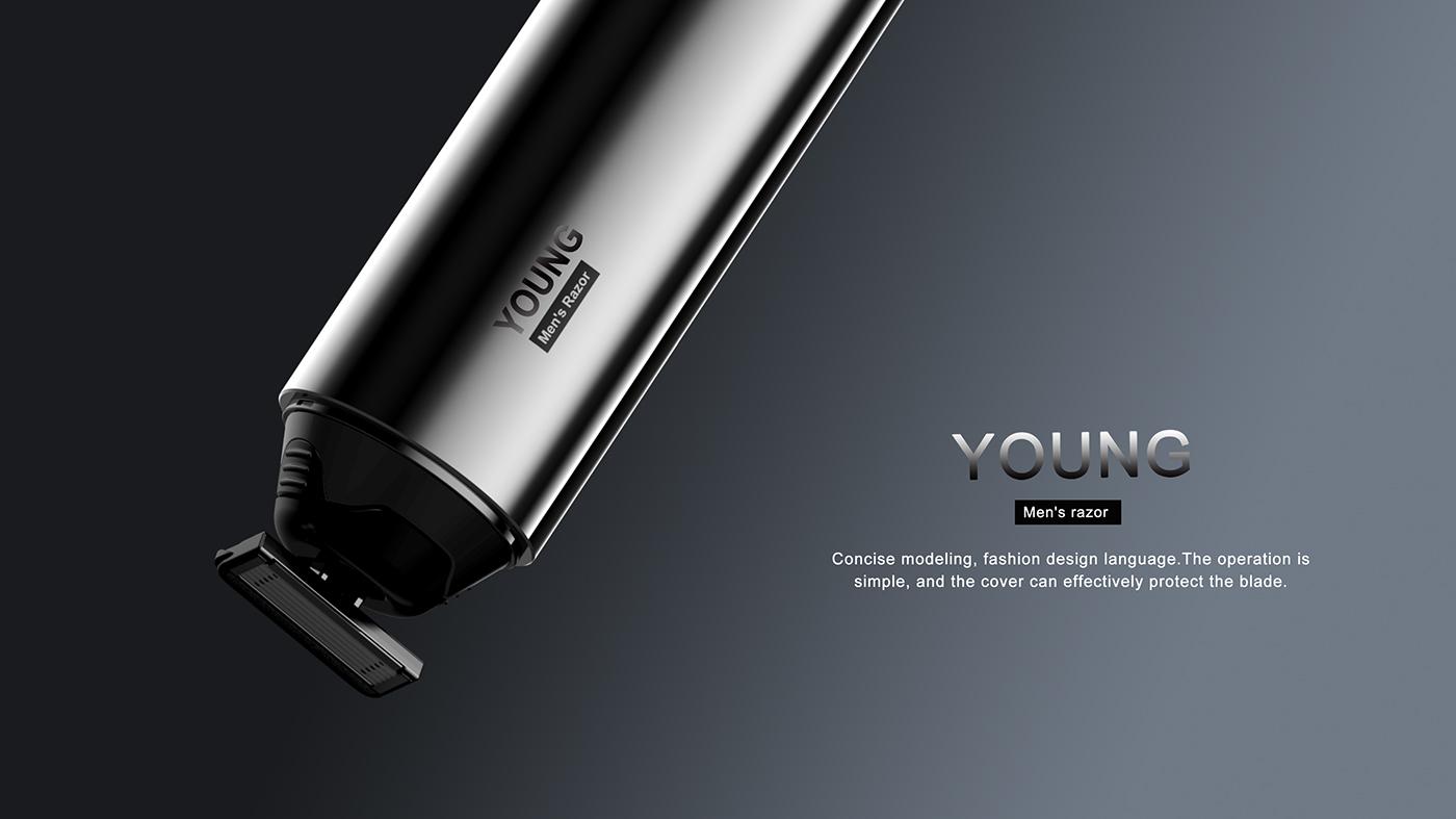 Portablerazo portable Razor industrial design  product Packing Design Fashion  Concise