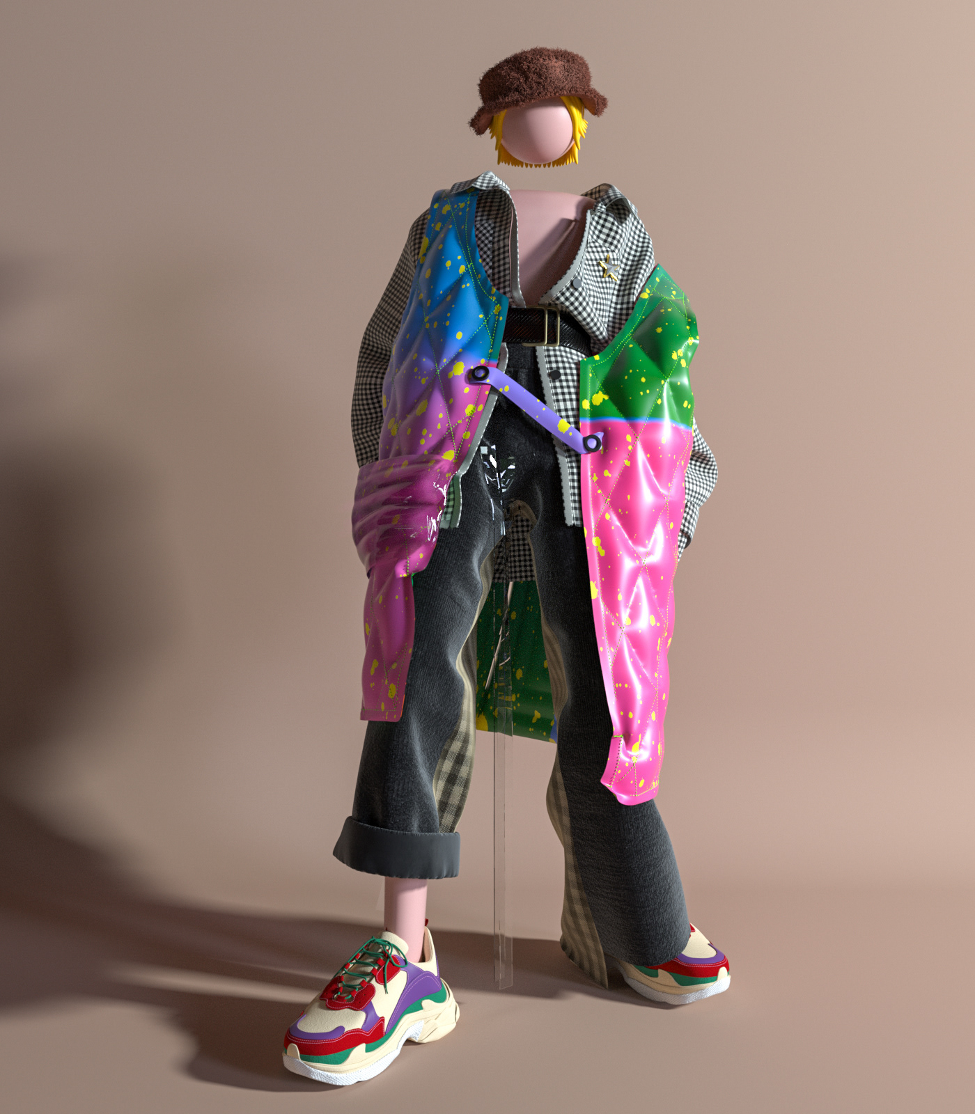 c4d dress Fashion  figure MD mix and match the color