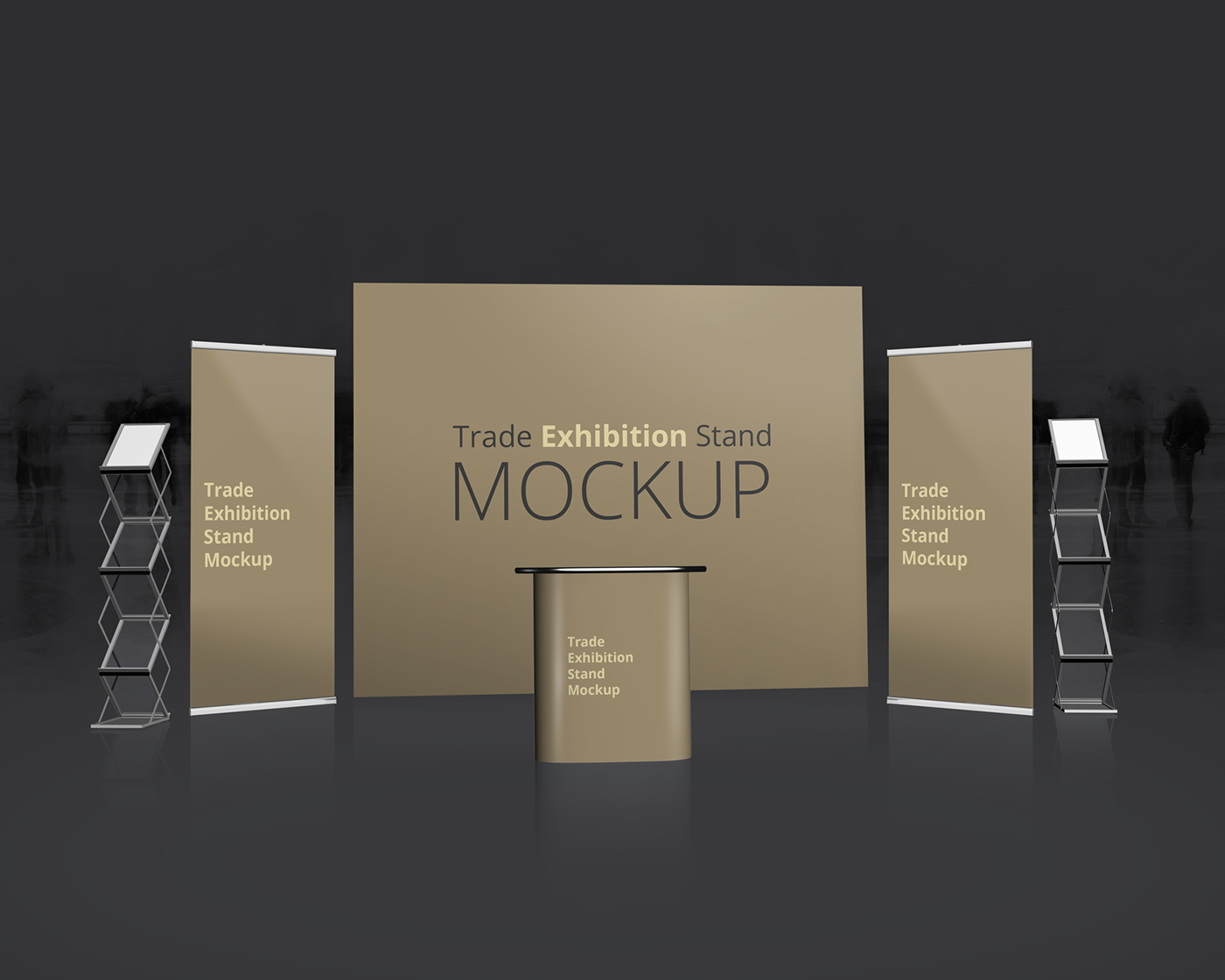Exhibition Stand Logo : Trade exhibition stand mockup on behance