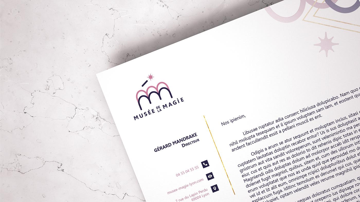 branding  identity Magic   museum