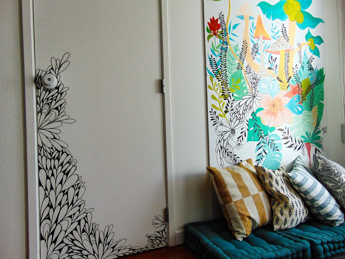 Image may contain: wall, drawing and indoor