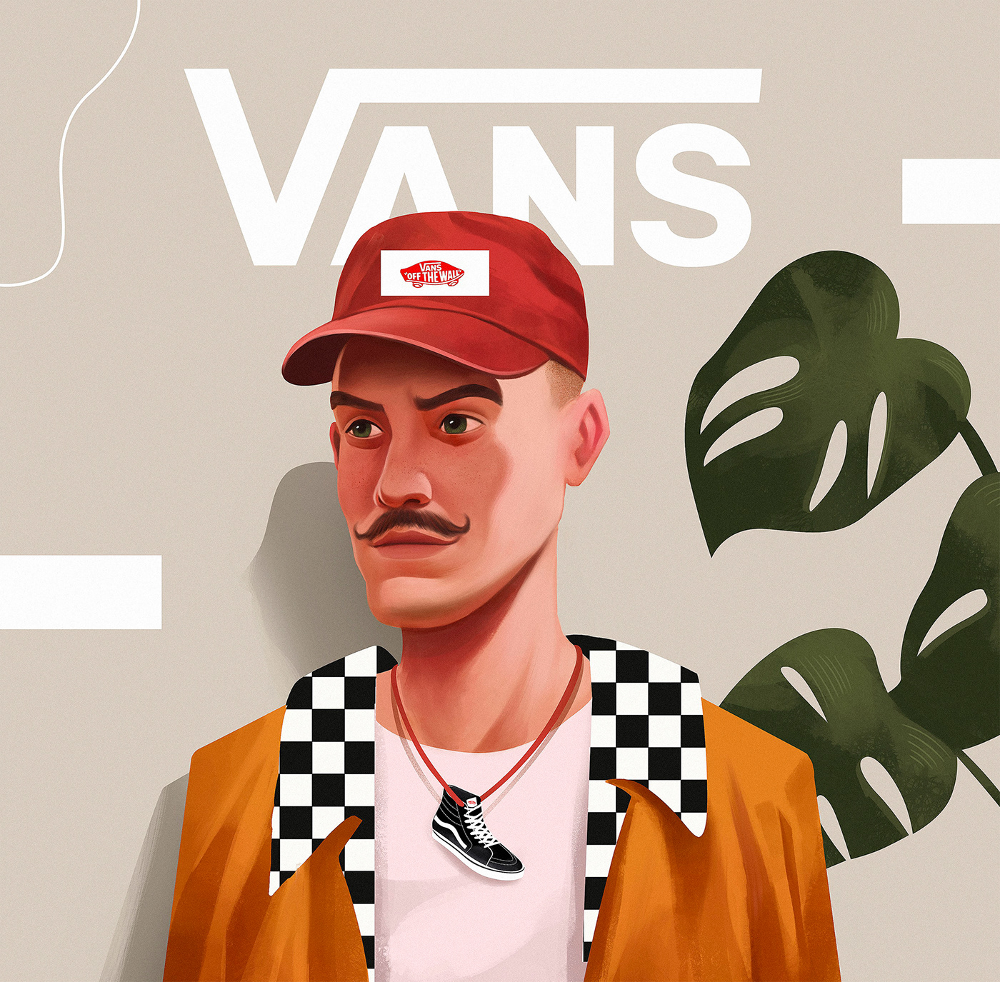 Vans design creative lifestyle Character campaign inspiration brand Illustrator bold colors