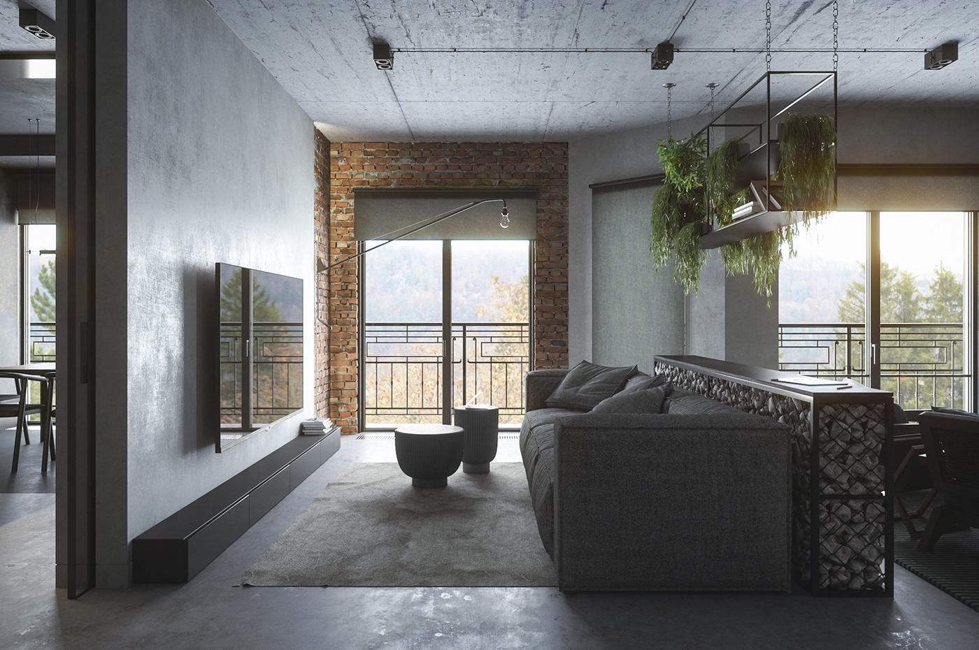 baxter black brick concrete fieldlight FStorm gabion grey rimadesio