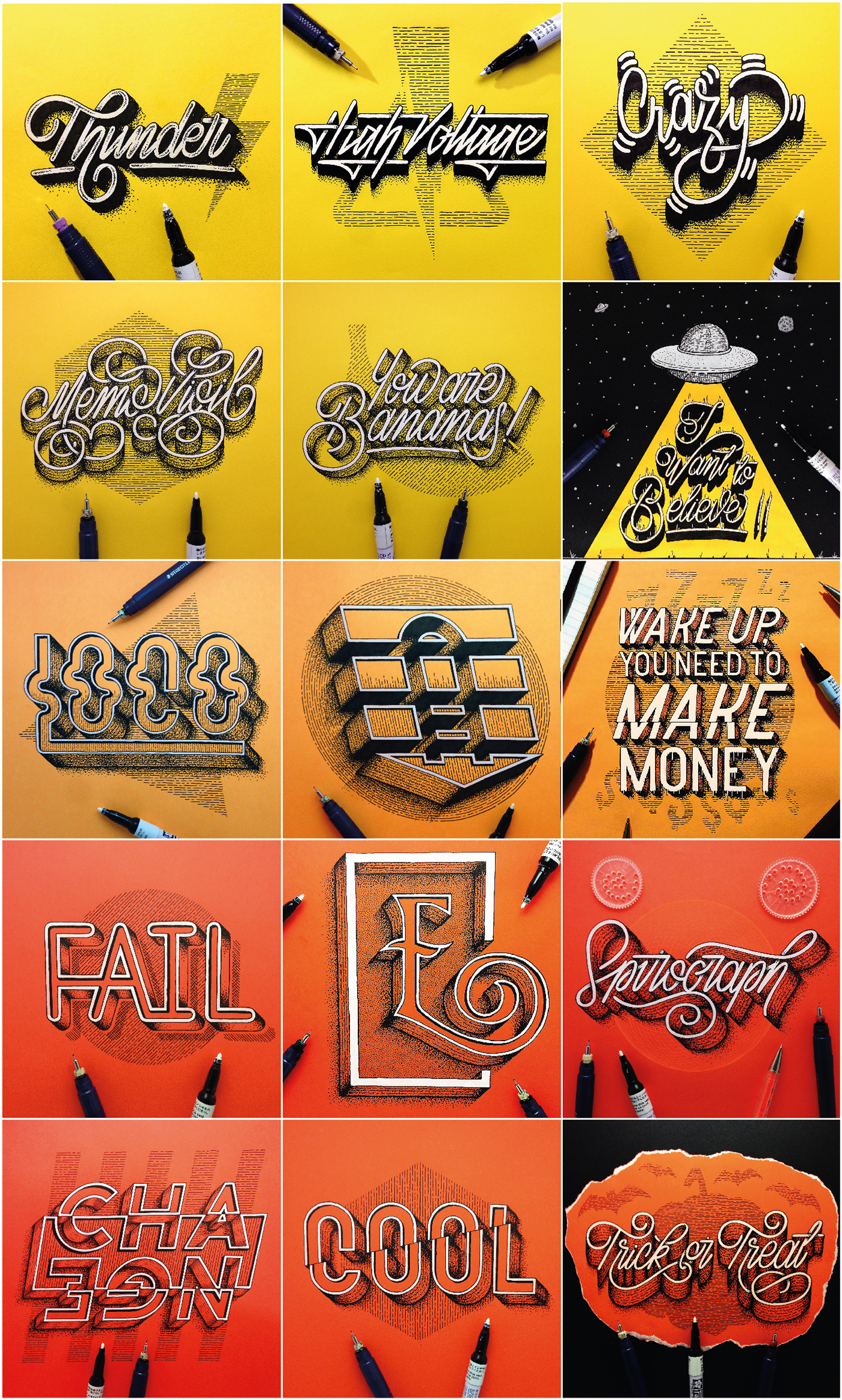 lettering handmade type mexico letters instagram collage