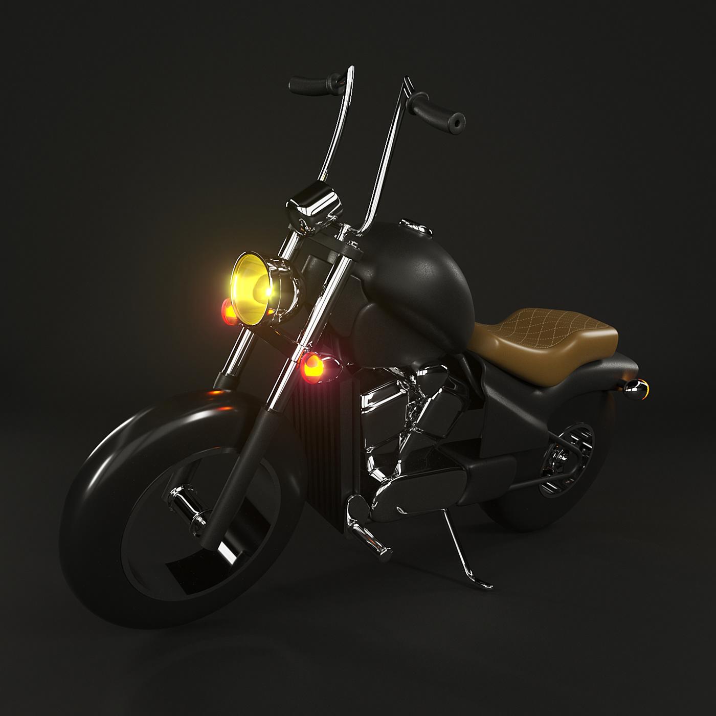 beard Character Custom mascote moto motorcycle personagem shadow
