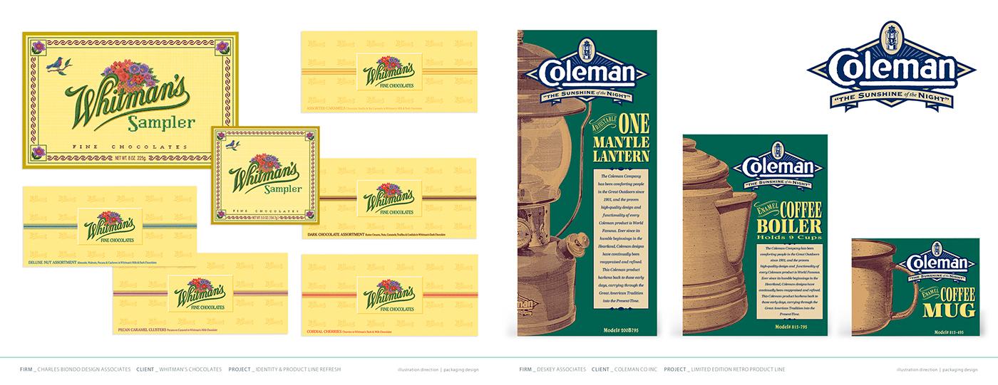 Brand Identity Refresh illustration direction packaging design