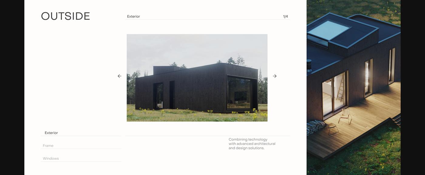 architecture building identity Interior Nature UI clean landing page minimalist Website