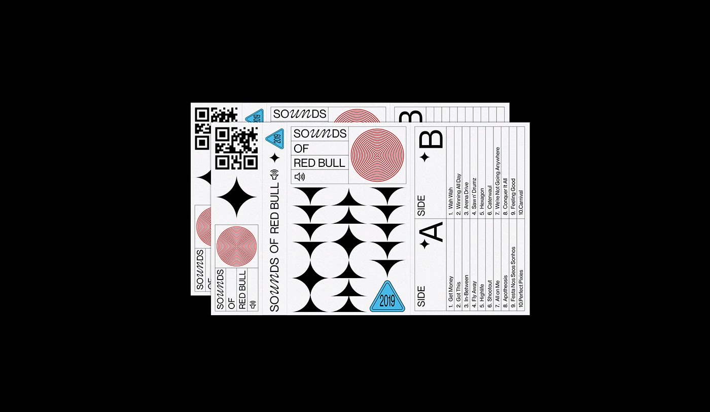cassette Brutalism Red Bull music sound stickers waves playlist Cover Art cover