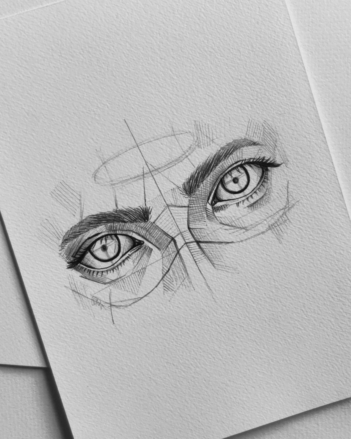 完美的24款手繪眼睛欣賞
