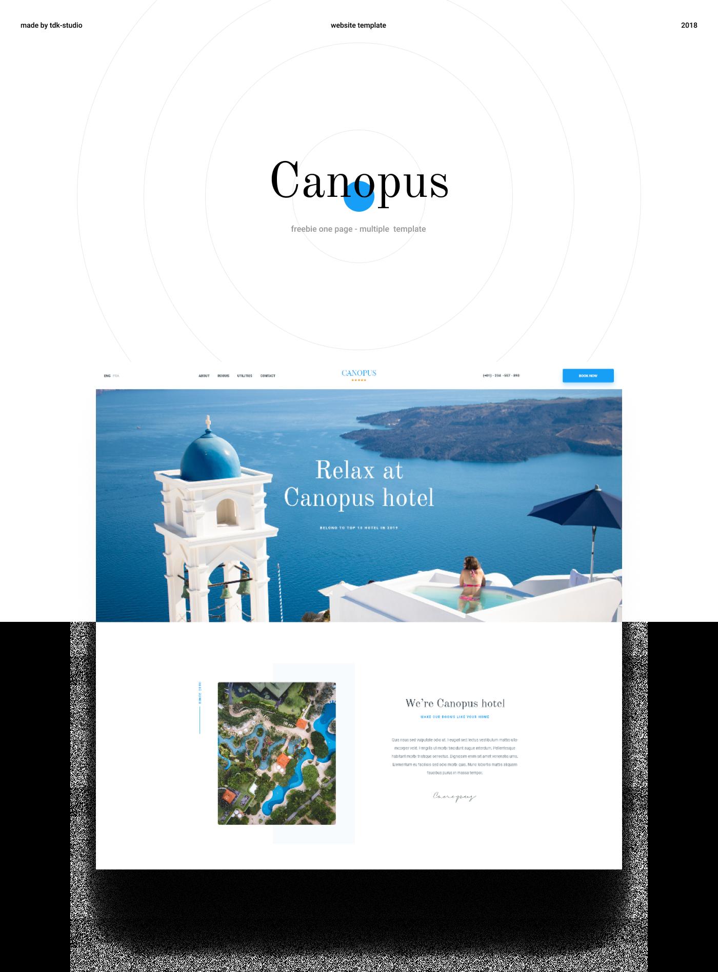Canopus - Freebie psd template