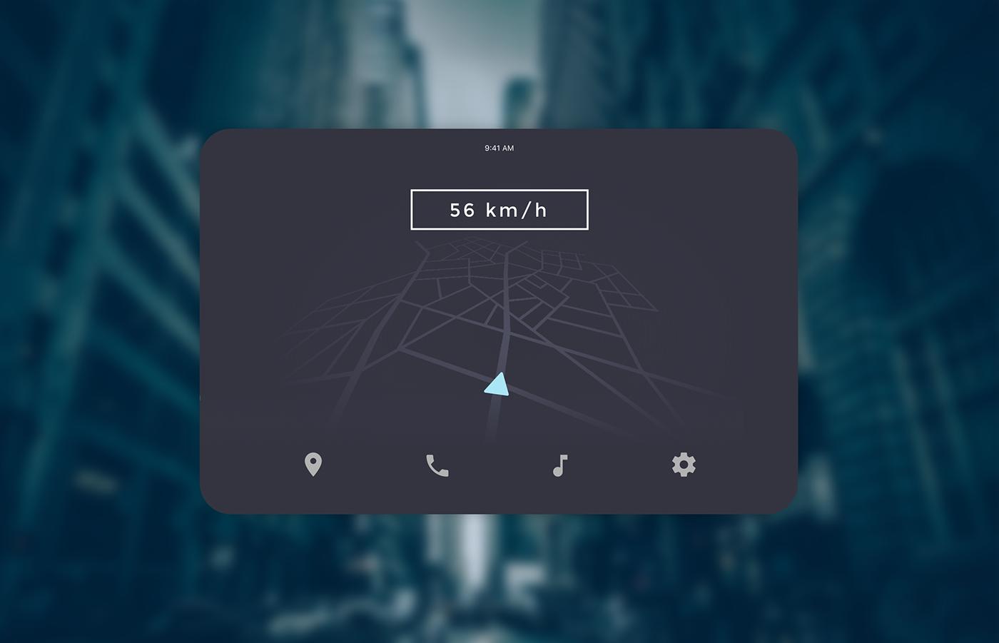 car Interface design UI ux app