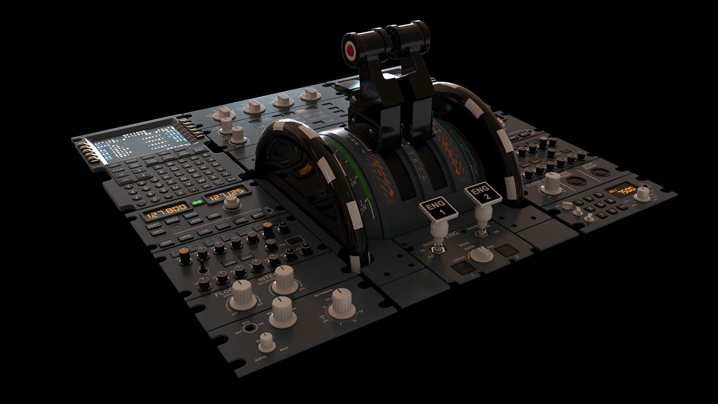 Airbus A320 throttle c4d 3D arnold cinema 4d