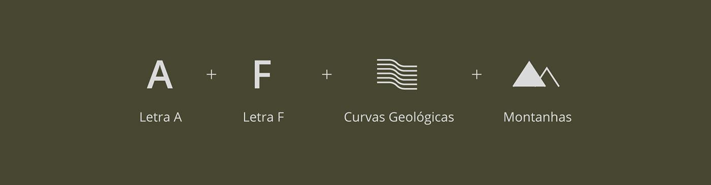 brand design geology gestalt graphic green logo Mining symbol topography